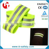 high visibility adjustable elastic reflective armband for running walking jogging traffic safety
