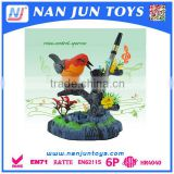 hot sale Battery operation plastic sound control parrot toy for kids