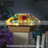 Butterfly Solar Fence Light Post Cap for Garden Decor