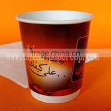 10oz Eur 8oz logo printed double wall disposable insulated hot paper coffee cups with lid and stirrer