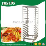 hot sale stainless steel tray trolley/Stainless Steel Kitchen Rack/Bakery Trolly