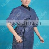 comfortable disposable spunlace bedgown with tie, soft nonwoven bedgown of high quality and low price