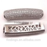 BJ4711 micro pave diamonds,brass beads jewelry,high quality cz jewellery,Cubic Zirconia jewelry finding