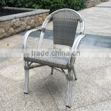 outdoor plastic rattan wicker bistro chair, stacking bamboo like wood chair, outdoor garden chair