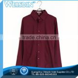 new style plain dyed ladies batwing sleeve pleated dress shirt