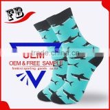 Men Custom Colorful Combed Cotton Dress Socks Cotton Business Crew Socks