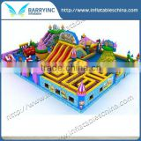 Hot sale kids outdoor mobile inflatable amusement park