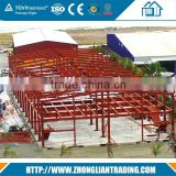 Pre engineering high rise hotel two story prefabricated steel structure building