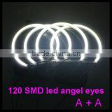 led angel eyes rings lights for bmw e36 e39 e38 with 120 smd led 3014 led halo rings lamp
