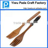 7.1 inch Wooden Forks - Disposable Wood Cutlery Silverware