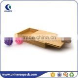 Slide design wood gift packaging boxes with silk printing logo                                                                                                         Supplier's Choice