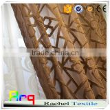 Geometry pattern 100% polyester brown luxury european style embroidered Germany sheer curtain                                                                         Quality Choice