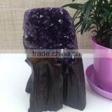 Natural Quadrate Similar Amethyst Geode Uruguay Crystal Cluster Ornaments