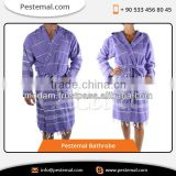 Soft Eye Catching Turkish Purple Colour Bathrobe at Lowest Market Rate