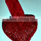 Glass Beads Heart Ornaments & Decorations for Christmas Tree Red