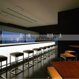 Bordeaux led lighting bar counter reception accent lighting bar counter top back lighting