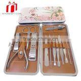 Hot Sale 8 In 1 Vogue Nail Care Personal Manicure Pedicure Set Grooming Kit With Leather Package Bag