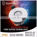 LED Fire rated COB downlight 6-10W 2.5 inch fire rated COB led downlight beam angle 24/60 degrees