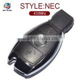 Best selling smart card for Mersedes Menz 2 button keyless go with NEC Chip 433Mhz AK002020