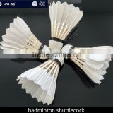 OEM badminton shuttle class A goose feather shuttlecock with factory price