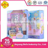Popular play house doll set for girls with 11.5'' nurse doll and 4'' baby doll from ICTI Chinese factory approved EN71
