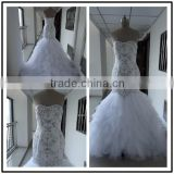 Sweetheart Neckline Mermaid Custom Made Floor Length Formal Bridal Dress Vestidos De Novia BW075 real pictures of wedding dress