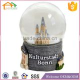 Factory Custom made best home decoration snow globe gift polyresin resin germany souvenir gifts