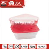 Top Lever Quanlity Plastic Food Meal Prep Containers Box With 3 Compartments