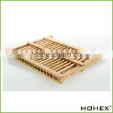 High Quality Wooden Bamboo Kitchen Plate Rack Dish Rack for Drying,Kitchenwares /Homex_Factory