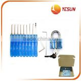 12 pcs Trainer Clear padlock practice lock pick set