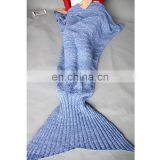 High quality mermaid tail blanket knitted sofa blanket for adult wholesale