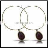 New Fashion High Quality Brass Ear Hook Studs Hoop Earrings