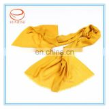2013 bright solid color viscose yellow scarf