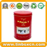 Round Chocolate Tin Box for Food Packaging, Metal Chocolate Can