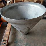 Stainless steel conical cone tank cover with dished conical head