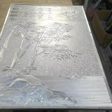 Foshan Manufactory Silver color  Engrave 10mm Wall Panel Screen Partition