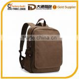2015 Audit Natural Fashionable cheap school teenager waxed canvas backpack bag