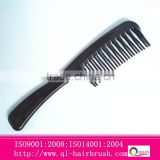 black color wide tooth plastic hair comb manufacturer