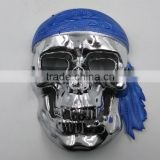 plastic pirates mask and skull face mask for party