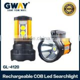 Multifunctional Led searchlight can be as emergency light.10W T6 LED spotlight+2x5W COB LED Light