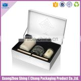 Wholesale rectangle shape custom design cardboard print candle gift box with insert holder