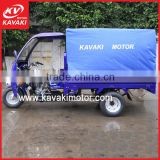 Kavaki Factory Outlet New Design Five Wheels Closed Cargo Tricycle With Rear Closed Cabin Foldable Sales To Tuvalu