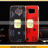 Brand MCM fashion luxury For Samsung S6 PU+PC cell phone case
