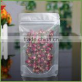 Best Price Plastic Bag Stand up Pouch with the Clear Front with Zip Lock for Flower Tea Food Snack