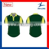 Newest Fashionable Custom Design Cricket Unifrom Polo Shirt