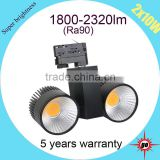 hot selling with long life span 2*10w led cob track light                                                                                                         Supplier's Choice