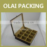 High-end 12 Division Wooden Tea Package Box