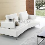 Latest Designs Modern Sofa Metal Frame Leather Cover Base Stainless Steel Sofa Set Made In China Leather Sofa