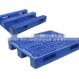 Stacking double faced storage plastic rack pallet