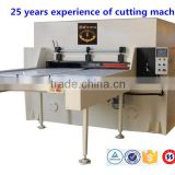 zhicheng 608-100T Plane Hydraulic Plastic Die Cutting Machine cut blister & tray for cosmetic